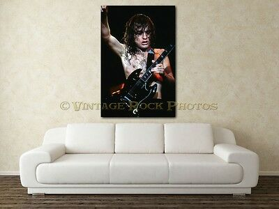 Angus Young AC/DC 20x30 in Fine Art Gallery Canvas Print Photo Framed Gilcee 12