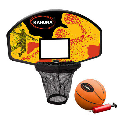 New Kahuna Trampoline Basketball Hoop Ring Backboard Pump Set Ball Kit