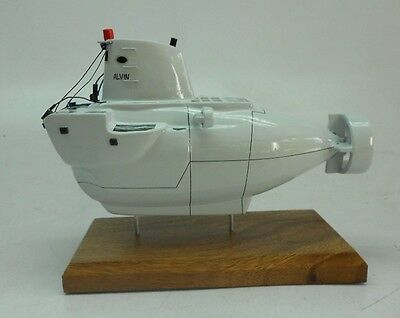 DSV-2 Alvin Deep Submersible Submarine Desk Wood Model Free Shipping