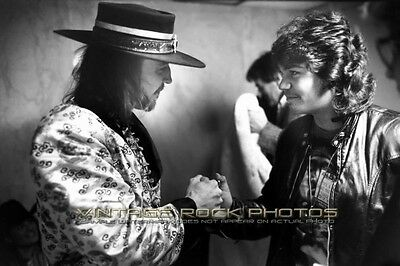 Stevie Ray Vaughan Photo 8x12 or 8x10 inch '86 Backstage Candid Pro Print 73