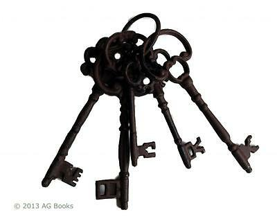 Bunch of Large Keys Vintage Gothic Shabby Cast Iron Metal Chic Gift 24 cm New