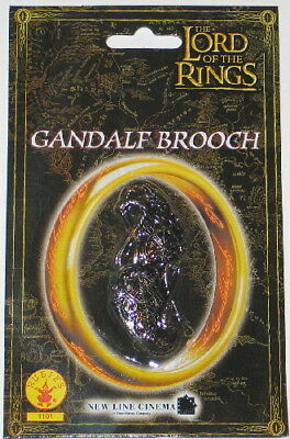 The Lord of the Rings Gandalf Antique Silver Toned Brooch, NEW MINT ON CARD