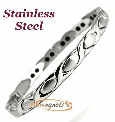 Ladies Super Strong Stainless Steel Bio Magnetic Bracelet-Arthritis Pain Relief