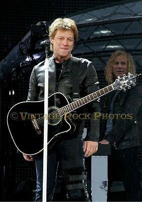 Jon Bon Jovi Photo 8x12 or 8x10 inch Live Concert 6-'11 Manchester UK  s21