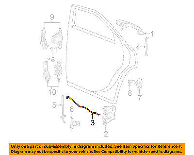 Dodge CHRYSLER OEM Charger Lock Hardware-Rear Door-Latch Rods Right 5065980AC