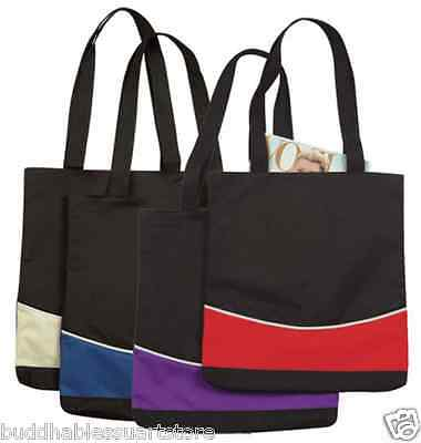 1 DOZEN Fashion Two Tone Reusable Grocery Shopping Tote Totes Bag Bags WHOLESALE