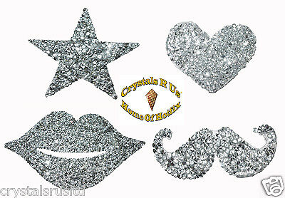 Quality Iron-On Scatter Chaton Diamante Diamond Crystal Transfer Patch Applique