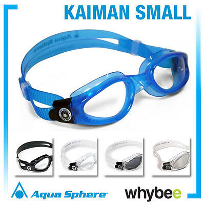 AQUA SPHERE KAIMAN SMALL SWIMMING GOGGLES - UNISEX GOGGLES Clear Tinted Mirrored