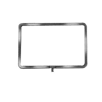 "7"" X 11"" Chrome Plated Sign Holder For Retail Clothing Racks - 5 Pieces"