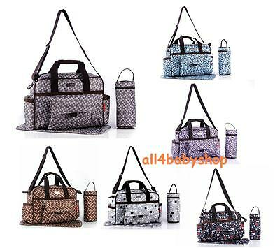 6 designs 3pcs Baby Nappy Changing Bags Diaper Bag Thermal Thermo Holder 9004