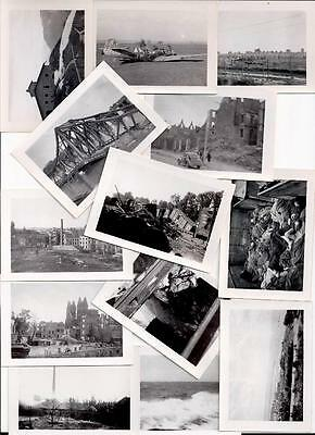 WWII Set of 15 orig. photos 2 X 3 in.
