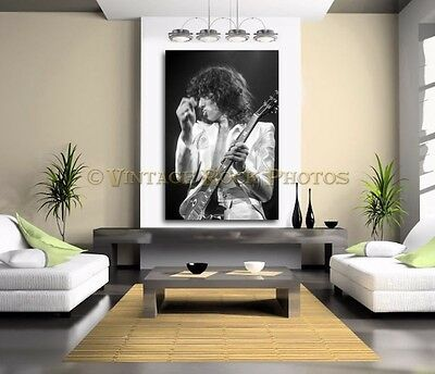 Jimmy Page Led Zeppelin 40x60 inch Poster Size Photo '77 Chicago Live Concert  3