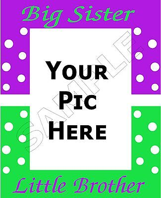 Big Sister Little Brother Photo Personalized Art Poem Memory Gift