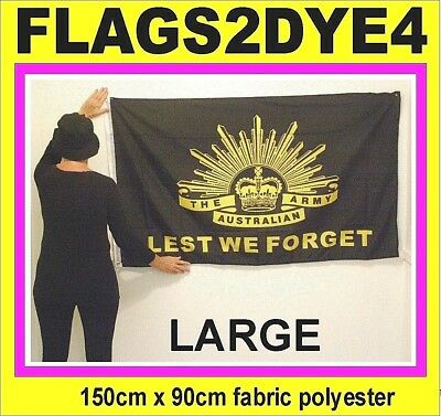 Lest We Forget flag Rising Sun Badge ARMY Australian + AUSTRALIA POST TRACKING