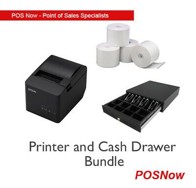 Epson TMT82II USB/Serial Receipt Printer & Electronic Cash Drawer /w Paper