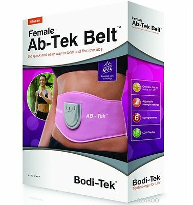 Bodi-Tek Female Abtek Ab/Stomach Muscle Toning Toner Belt - Pink