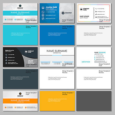 100 Business Card Double Sided Full Color Matt Glaze Design choose from template