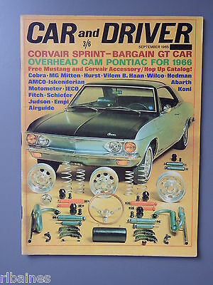 R&L Mag: Car & Driver September 1965 Summer Bros Goldenrod/Mustang Accessories