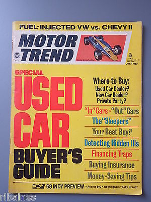 R&L Mag: Motor Trend June 1968 Boat-Tail Packard/Chevy II/VW 1600 Fastback
