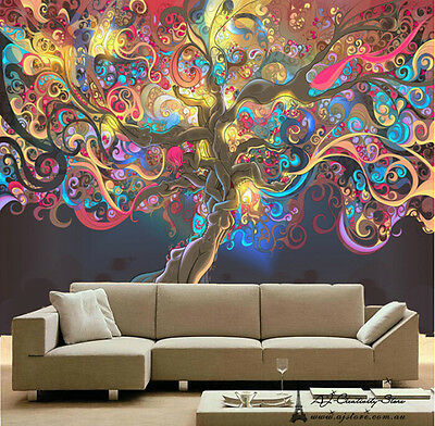 3D Colourful Abstrac Wall Paper Wall Print Decal Wall Deco wall Mural Home Kids