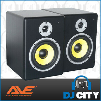 "PAIR FUSION6 AVE 6"" Inch Studio Monitors DJs Production Computer Speakers"