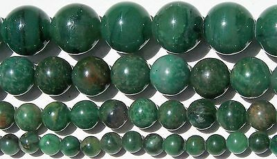 African Green Jade Beads 4mm-6mm-8mm-10mm Real Stone