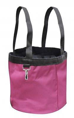Showman PINK collapsible durable nylon grooming tote! NEW HORSE TACK!