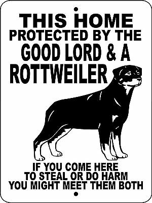 ROTTWEILER Guard Dog Aluminum Sign  Vinyl GRAPHICS APPLIED  GLROTT1