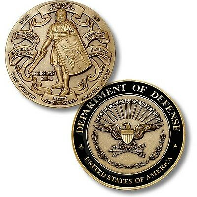Armor of God Department of Defense Challenge Coin Ephesians Bible Knight DOD US