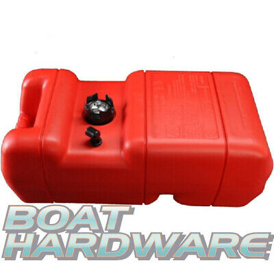 Portable Petrol Fuel TANK + Gauge Plastic 22.7 Litre Suits Boat Outboard Engines
