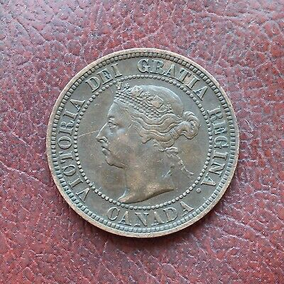 Canada 1891 bronze cent small date small leaves type