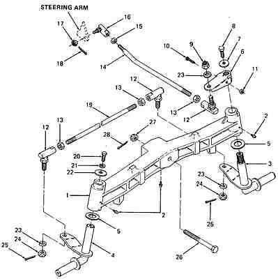 Cub Cadet 1340 Used Component Tie Rod Only 747 3139