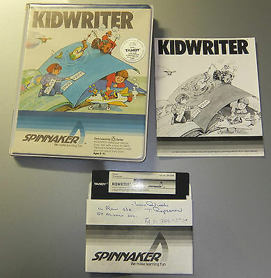 Kid Writer for Tandy TRS-80 Colour Computer 1 2 Coco Color Computer