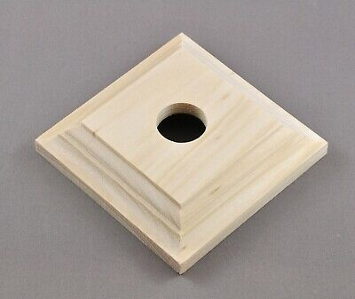 SWITCH MOUNTING BLOCK-SINGLE SQUARE-RAW PINE-FEDERATION VICTORIAN-vintage timber