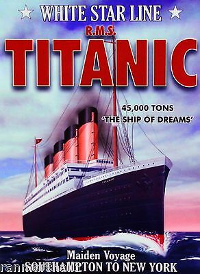 TITANIC SHIP OF Dreams White Star Ocean Liner Travel ...
