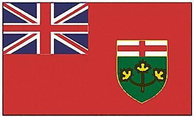 Large 3'x5' High Quality 100% Polyester Ontario Flag -Free Canada & USA Shipping