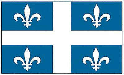 Large 3'x5' High Quality 100% Polyester Quebec Flag - Free Canada & USA Shipping
