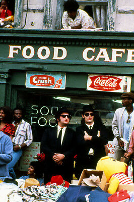 The Blues Brothers Dan Aykroyd John Belushi outside Soul Food Cafe 24X36 Poster