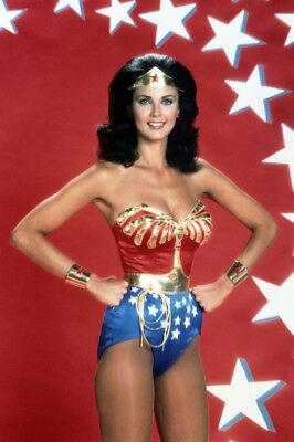 Wonder Woman Lynda Carter stunning sexy hands on hips smiling 24X36 Poster