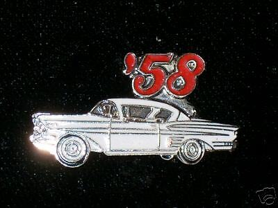 1958 IMPALA  hat (lapel) pin.-  white color