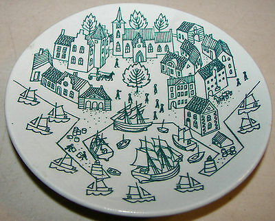 Nymolle Art Faience Hoyrup Made In Denmark Limited Edition Plate 4006 4.75""