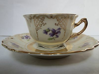 Winterling - Small Tea Cup And Saucer - Loads Of Gold