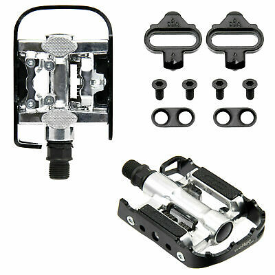 Wellgo Multi-Function Mountain Bike Pedals Shimano SPD Compatible Black