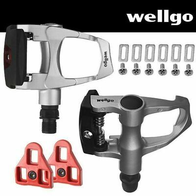 Wellgo Road Bike Pedals Look ARC Compatible with Cleats Silver