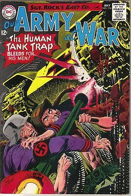 Our Army At War Comic Book #156, DC Comics 1965 FINE-