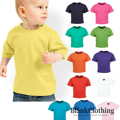 Infant Baby T-shirt | Plain Kids Tee | Pink | White | Yellow | Blue - 1TI