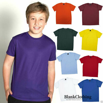 Podium Kids Quick Dry Poly T-shirt | Children's Sports Uniform Tee | Size 4-14