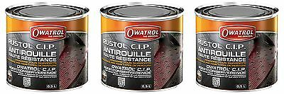 LOT DE 3 RUSTOL CIP 500 ml ANTIROUILLE HAUTE RESISTANCE