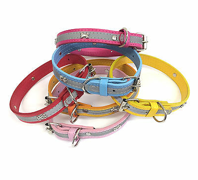 Adjustable Dog Puppy Pet Collar with Reflective Safety Stripe.  Priced to Clear.