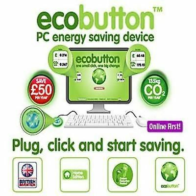USB Eco Button Computer PC Laptop SMART Energy Power CO2 Saving Gadget Device